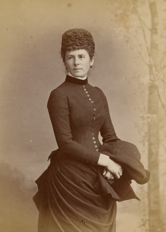 Lady Dufferin, standing for a studio portrait.